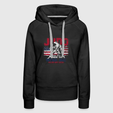Judo Flag USA Weak Fighter America - Women's Premium Hoodie