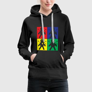 Pop Art Voodoo Doll - Women's Premium Hoodie