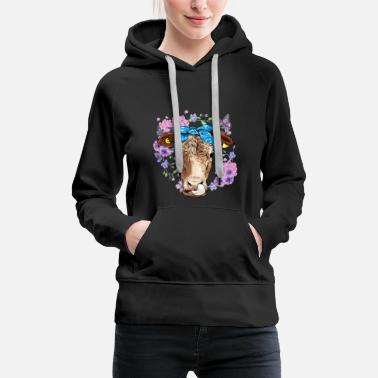 Milch Kuh Hipster Kuh Tier - Frauen Premium Hoodie