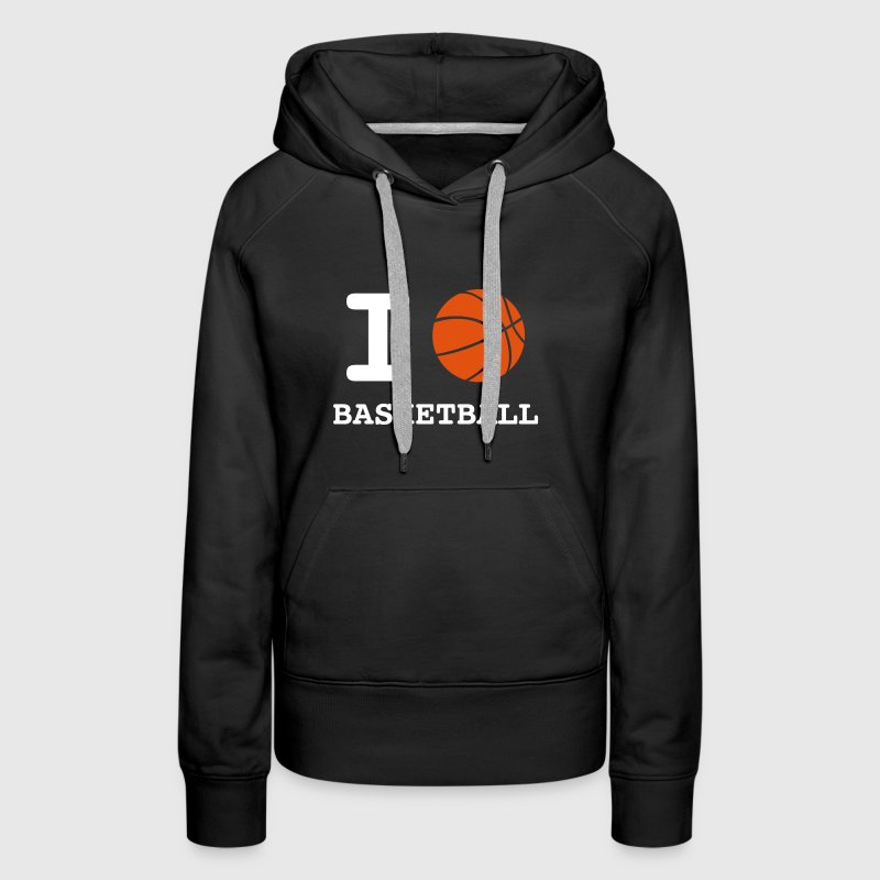love_basketball - Sweat-shirt à capuche Premium pour femmes