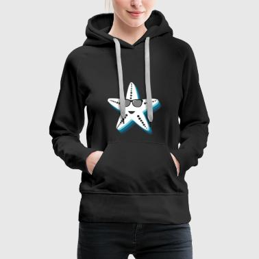 Starfish with sunglasses Cool gift kids - Women's Premium Hoodie