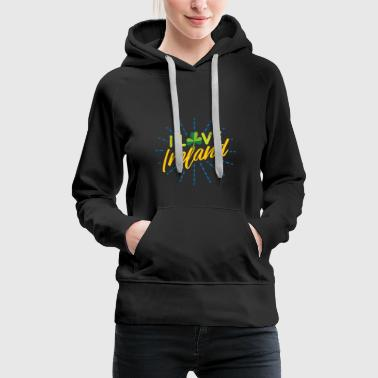 Grass I love Ireland Gift Children Christmas - Women's Premium Hoodie