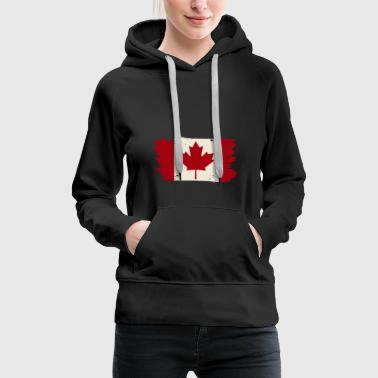 French Flag Canada vintage retro gift kids - Women's Premium Hoodie