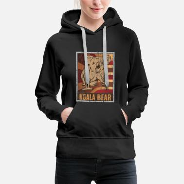 Old School Retro Koala Plakat Used Look - Frauen Premium Hoodie