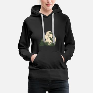 Gorilla Monkey gorilla jungle conservation rainforest gift - Women's Premium Hoodie