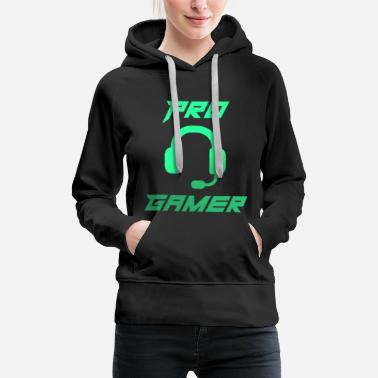 Pro Pro Gamer Gaming Headset Shirt - Frauen Premium Hoodie