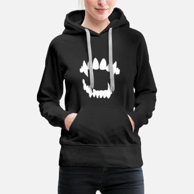 Dents Vampire Halloween Vampire - dents de vampire - Sweat-shirt à capuche Premium pour femmes