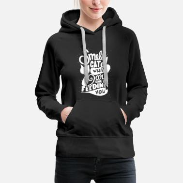 Tv Smelly cat what are they feeding you - Women's Premium Hoodie