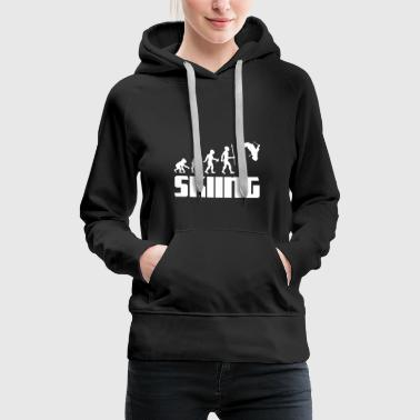 Ski Jumping Evolution skier skiing winter sport snow - Women's Premium Hoodie