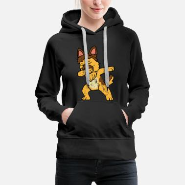 German Retro Vintage Dabbing Dab German Shepherd - Women's Premium Hoodie