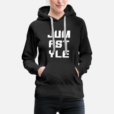 Scene JUMPSTYLE lettering - white - Women's Premium Hoodie