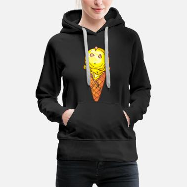 Ice-cream Retro vintage grunge style ice cream - Women's Premium Hoodie