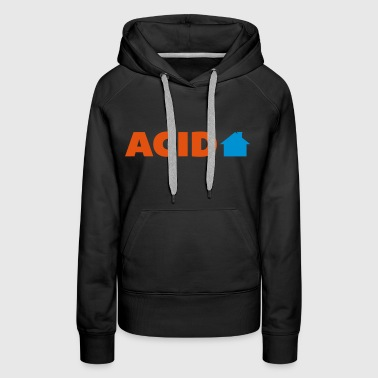 Acid House  - Sweat-shirt à capuche Premium pour femmes