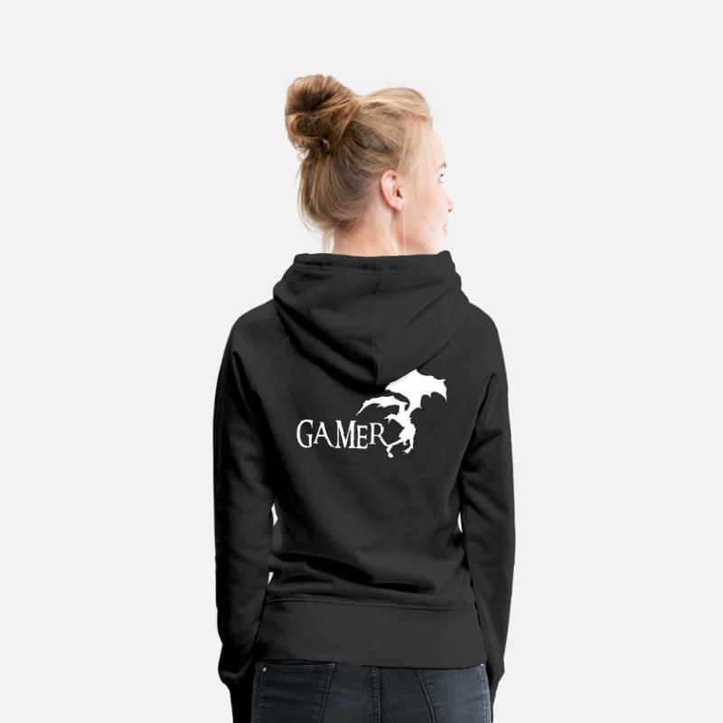 Gamer Sweat-shirts - Gamer - Sweat à capuche premium Femme noir