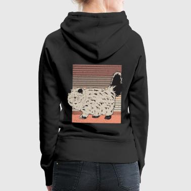 Cats Kitten Retro Style Vintage Kitty Cat - Women's Premium Hoodie