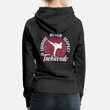 Martial Arts Martial Arts Taekwondo Karate Japan Martial Arts - Women's Premium Hoodie