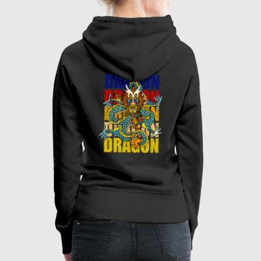 Dragon dragon mythical creature mythology fairy tale China - Women's Premium Hoodie