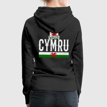 Flag Wales Dragon Celts Cardiff origin - Women's Premium Hoodie