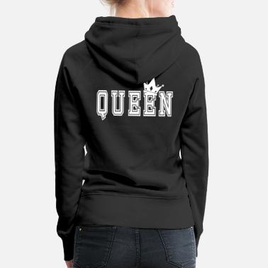Couples Valentine's Matching Couples Queen Jersey - Women's Premium Hoodie