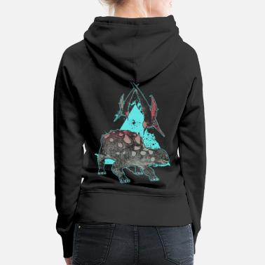 Earth Dinosaur Euoplocephalus cool motif for kids - Women's Premium Hoodie