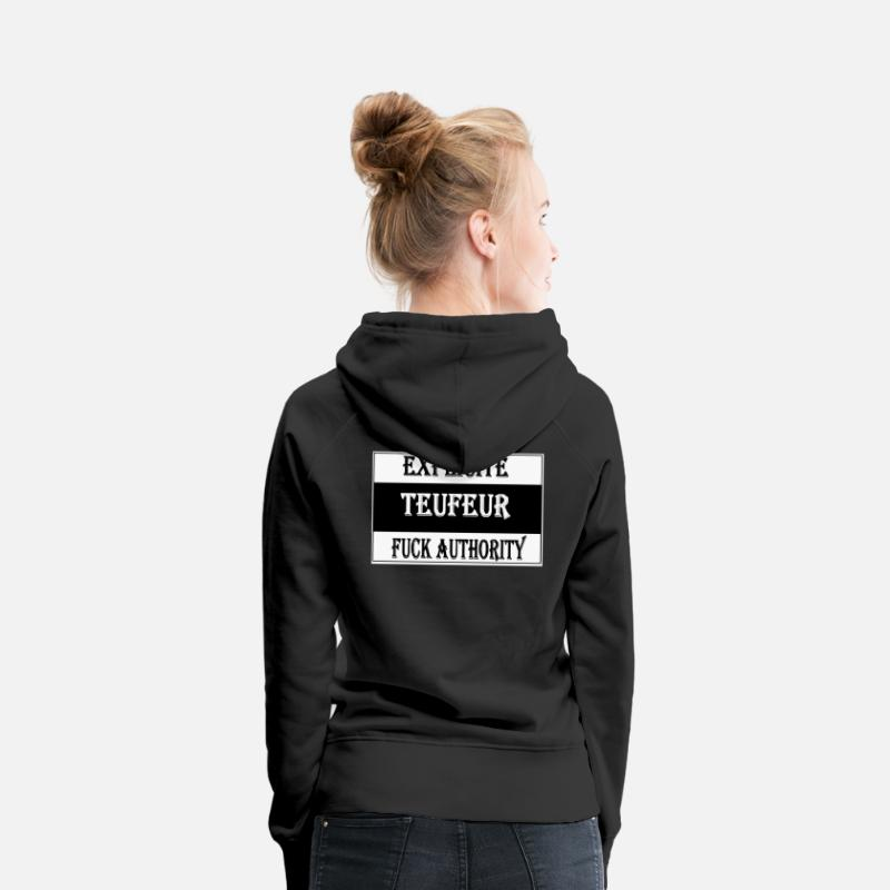 Teuf Sweat-shirts - explicit teufeur - Sweat à capuche premium Femme noir