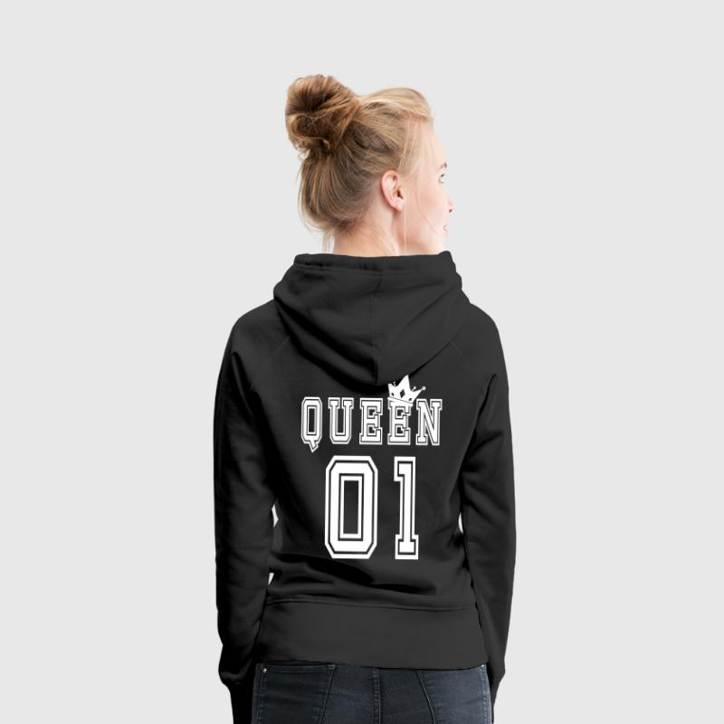 Valentine's Matching Couples Queen Crown Jersey - Premium hettegenser for kvinner