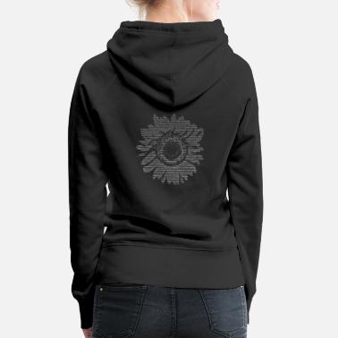 Matrix Ascii Art - Flower / Flower - Women's Premium Hoodie