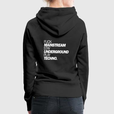 Fuck Mainstream - Women's Premium Hoodie