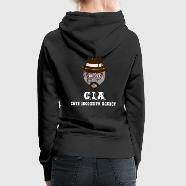 CIA agent secret chat - Sweat-shirt à capuche Premium pour femmes