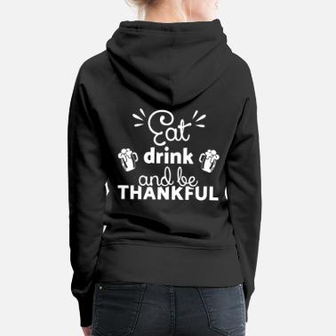 Chicken Happy Thanksgiving Day Turkey Thanksgiving Day Thanksgiving - Women's Premium Hoodie
