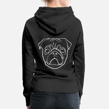 Pug Pug face dog love dog lover gift - Women's Premium Hoodie