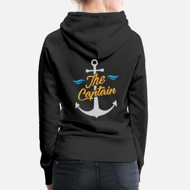 Ahoj Piraci Sailor / Sailor - The Captain & Anchor - Bluza damska Premium z kapturem