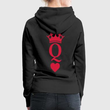 Queen Of Hearts QUEEN CROWN HEART - Women's Premium Hoodie