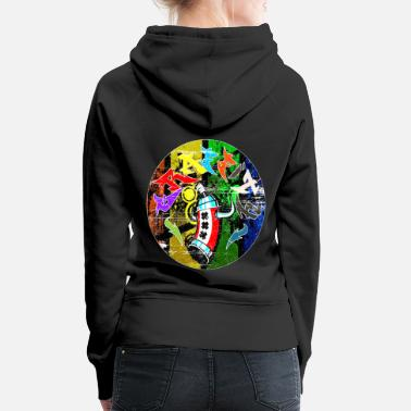 Afro Graffitis - Graffitti - Sweat-shirt à capuche Premium pour femmes