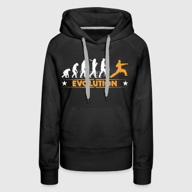 Arts martiaux evolution - orange/blanc - Sweat-shirt à capuche Premium pour femmes