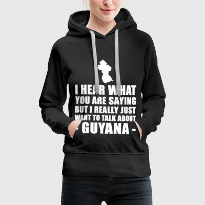 Funny Guyana holiday gift idea - Women's Premium Hoodie
