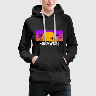 HOLLYWOOD Shirt - Sweat-shirt à capuche Premium pour femmes