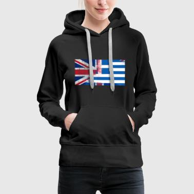 British Greek Half Greece Half UK Flag - Women's Premium Hoodie