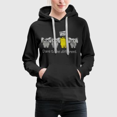 Elephant dare to be different - Women's Premium Hoodie