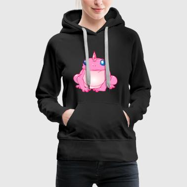 Frog with unicorn Unicorn optics - Women's Premium Hoodie