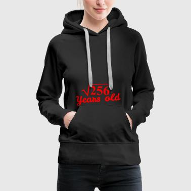 Sweet Sixteen: square root 256 Years old - red - Women's Premium Hoodie