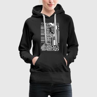 Gift for techies: circuit board - Women's Premium Hoodie