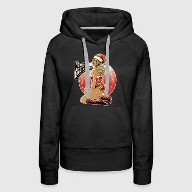 Xmas-pin-up-final-file - Rahmenlos design gift - Sweat-shirt à capuche Premium pour femmes
