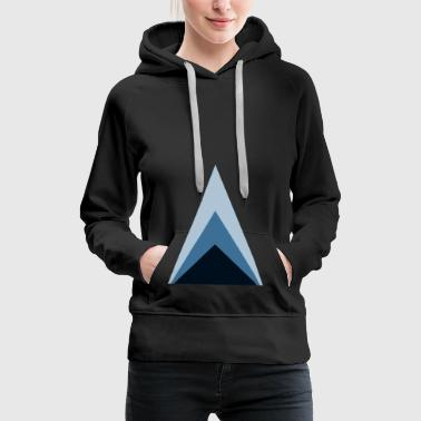 Triangles minimum - Sweat-shirt à capuche Premium pour femmes