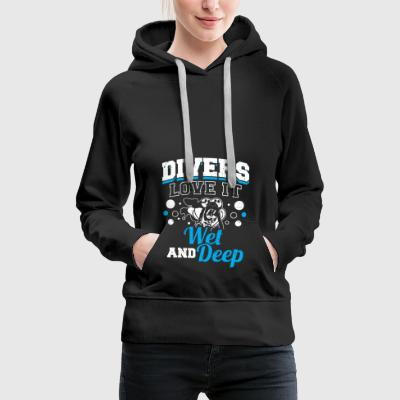 Funny Diving Diver Divers Love It - Women's Premium Hoodie
