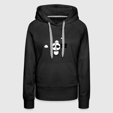 Pirate Panda with flag - Women's Premium Hoodie