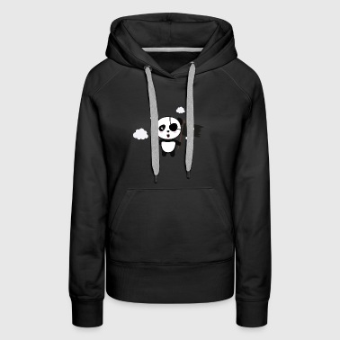 Panda Pirate with Flag Sa19o - Women's Premium Hoodie