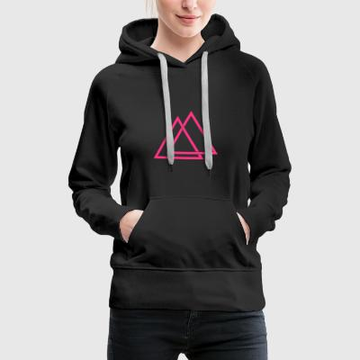 Triangle illusion Hipster Triangle 1c - Sweat-shirt à capuche Premium pour femmes