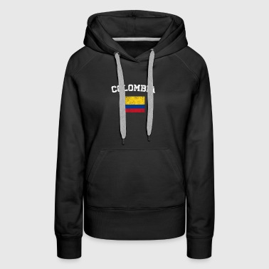 Colombian Flag Shirt - Vintage Colombia T-Shirt - Women's Premium Hoodie