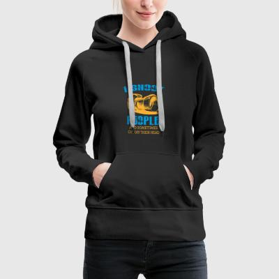 Camera I shoot people - Women's Premium Hoodie